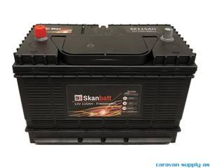 Bilde av  Fritidsbatteri SkanBatt 12V 115AH inkl.